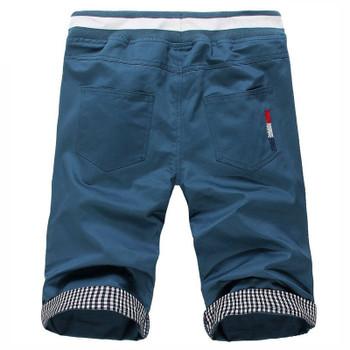 Men's cotton casual slim shorts male bermuda masculina shorts Men khaki Harlan shorts Man boardshorts beach shorts,5 Color
