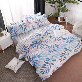 Leaf 4pcs Girl Boy Kid Bed Cover Set Duvet Cover Adult Child Bed Sheets And Pillowcases Comforter Bedding Set 2TJ-61014