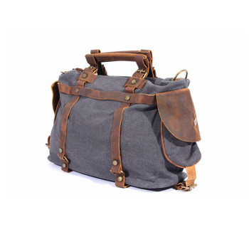"""2018 New Fashion canvas shoulder bags 14"""" laptop men women casual durable leather tote work bags large luggage travel bag"""