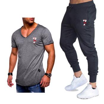 Classic Brand Sets New Summer Men T Shirts+pants Sets Summer Hot Sale Cotton Comfortable Short Sleeve Tshirt men Casual Set Pant