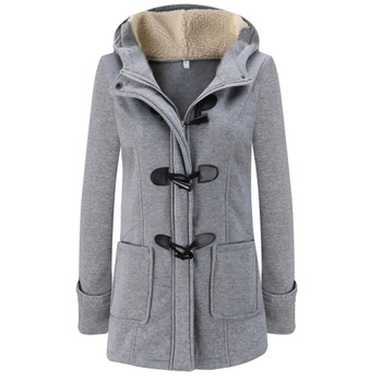 Feitong 2018 Women Warm Long Sleeve Pullover Blouse Hooded Jacket Coat Long Outerwear New arrival
