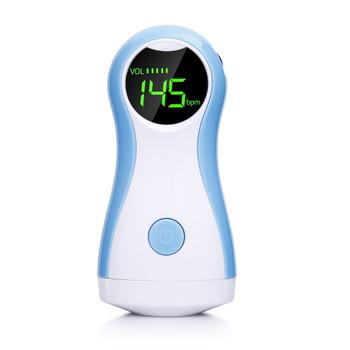 Fetal Doppler Heartbeat Detector Portable Pregnant Baby Ultrasound Heart Rate Monitor Pocket LCD Probe Vascular Doppler
