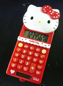 New Cute Stretch HelloKitty Basic Electronic Calculator 8 Digitals KX-S508