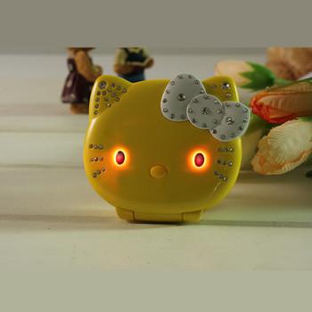 Flip Lovely Cute Mini Cartoon Mobile Phone Hello Kitty cellphone For Kids Girls Dialer Vibration Low Radiation