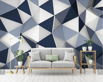 Customized simple 3D wallpaper, geometric diamond murals for living room bedroom sofa background wall home decoration wallpaper