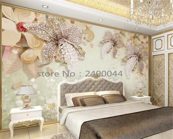 Beibehang Custom Wallpaper Luxury Jewelry 3D Wallpaper Living Room Bedroom TV Background Mural photo wallpaper for walls 3 d