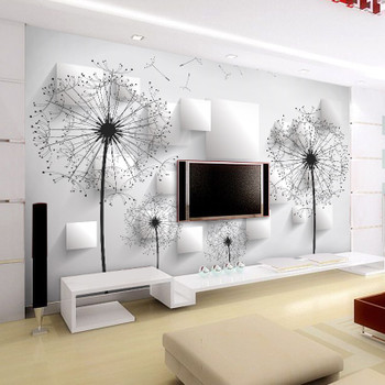 Custom Photo Wallpaper 3D Stereoscopic Dandelion Wall Painting Bedroom Living Room TV Background Wall Mural Wallpaper Home Decor