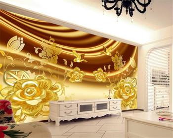 Beibehang Custom wallpaper luxury jewelry rose background wall living room bedroom TV background mural photo 3d wallpaper