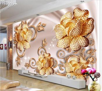 Beibehang Custom Wallpaper European Luxury Jewelry Roses Background Walls Living Room Bedroom TV Background Mural 3D wallpaper