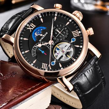 BINSSAW 2018 Men Automatic Mechanical Tourbillon Watches Relogio Masculino