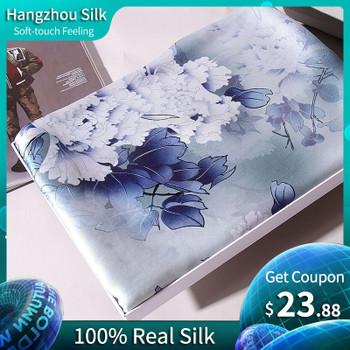 100% Real Silk Scarf Women 2019 Brand Echarpe Shawls and Wraps for Ladies Printed Silk Foulard Femme Hangzhou Pure Silk Scarves