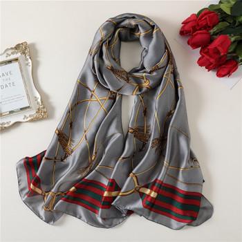 Women Silk Scarf Chiffon Hijab Hijab Mousseline Designer Scarf Women Scarves Foulard Femme Head Scarf Small Foulard 39pc