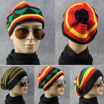 Winter Hip Hop Bob Jamaican cap Rasta Reggae Hat Multi-colour Striped Beanie Hats For Men Women new style Male Beanie Caps Gorro