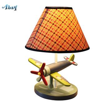 Modern Creative Plane Shape Table Lamp for Children Bedroom Living Room Bedside Prince House Cafe Kids Night Light Home Deco Led
