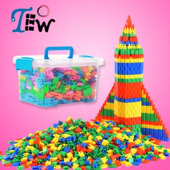 40+30+20+10pcs Fashion Plastic Bullet Building Blocks Kids Baby Educational Toys for Boys and Girls Children Christmas Gift 172