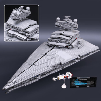 Star 05027 Wars Emperor Fighters Starship Destroyer Model Building Blocks Bricks Compatible with Lego 10030 75252 Kid Toys