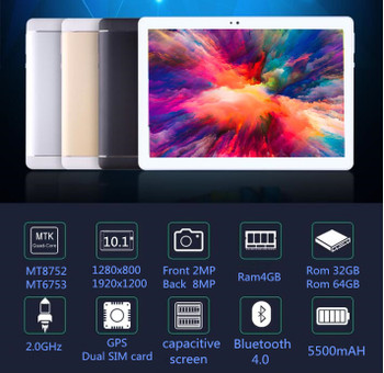 Android 9.0 Original 10.1 inch 3G/4G LTE Phone tablet PC 8 Octa Core RAM 6GB ROM 32GB 64GB IPS tablets pcs S109