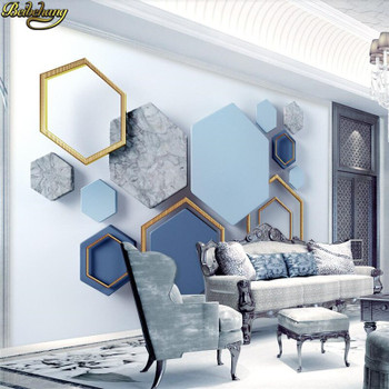 beibehang Custom Modern geometric marble wall papers home decor photo mural wallpapers for living room decoration bedroom garten
