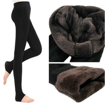 2019 NEW Plus Cashmere Casual Leggings For Women Girl Warm Winter Bright Velvet Knitted Thick Slim Legging Super Elastic trouser