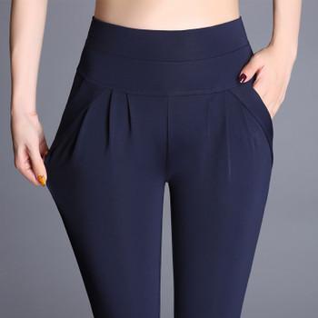 2018 Women Plus Size 6XL Harem Pant Lady Full Length Leggings Sexy High Waist Spring Autumn Trousers Red Green Black Khaki Pants 1