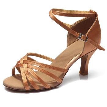 Hot selling Women Professional Dancing Shoes Ballroom Dance Shoes Ladies Latin Dance Shoes heeled 5CM/7CM 1