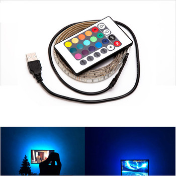 USB Powered DC 5V LED Strip light RGB Tape Ribbon 2835 SMD 1M 2M 3M 4M 5M TV Desktop Screen Backlight Lighting