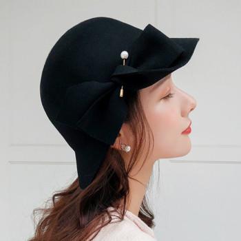 Seioum alta calidad cubo hembra sombrero Hairball Ultra fino lana fieltro sombreros para las mujeres plegable