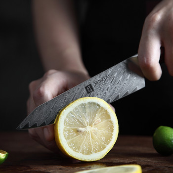 """XINZUO 5"""" inch Utility Knife Japanese VG10 67 layers Damascus Steel Professional Knives Kitchen Universal Knives Rosewood Handle"""