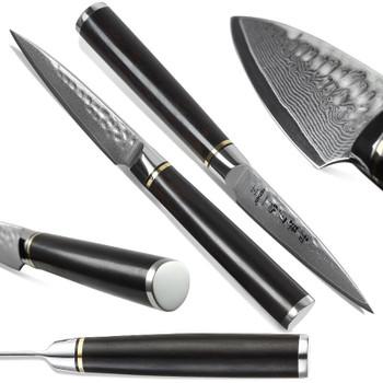 HEZHEN 3.5'' Paring Kitchen Knives Japanese VG10 Damascus Steel High Quality Slicing Peeler Fruit Vegetable Knife Ebony Handle