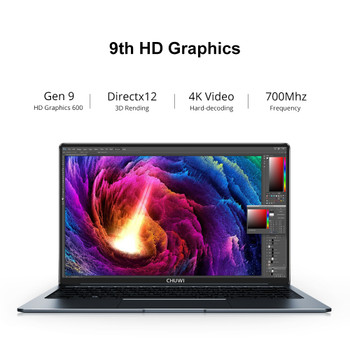 CHUWI LapBook Pro 14.1 Inch Intel Gemini-Lake N4100 Quad Core 8GB RAM 256GB SSD Windows 10 Laptop with Backlit Keyboard