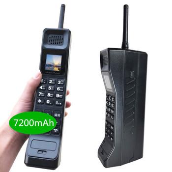 2019 NEW real 7200mAh Powerbank Super Big Mobile Phone Luxury Retro Telephone Loud Sound music player Standby Dual SIM Heav