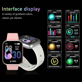 LEMFO Women Smart Watch Waterproof Heart Rate Blood Pressure Monitoring Pedometer Men Women Smartwatch for Android Apple iPhone