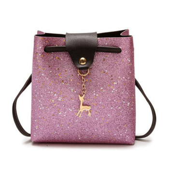Mara's Dream 2019 New Women Crossbody Bags Small Deer PU Leather Messenger Shoulder Bag Solid Female Fashion Banquet Handbags