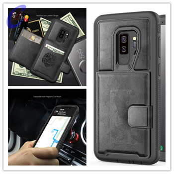 2020 NEW CBL PC+TPU+PU Leather Case for Samsung S10 Plus S10 Note9 multi card holders case for Samsung S9 Plus phone case cover
