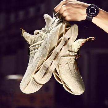 Damyuan Men's Casual Shoes Outdoor Fashion Comfortable Blade Sneakers Men Sports Running Jogging Shoes Tenis Zapatillas Hombre