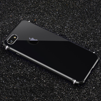 For iPhone 8 Xs Case Luxury 3D Glitter Hard Aluminum Metal Armor Protective Back Phone Case For iPhone 7 8 plus Case Cover