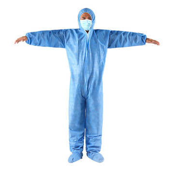 PPE KIT Disposable Waterproof Oil-Resistant Protective Coverall for Spary Painting Decorating Clothes Overall Suit