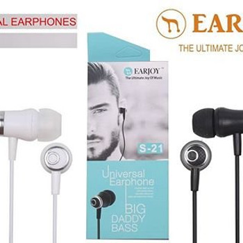 EARJOY S-21 HIGH QUALITY HEADPHONE FOR Samsung J5/J7/J210 Stereo Headset with Remote and Mic ,Wired Headsets Compatible with Andriod Devices UNIVERSAL EARPHONE SPECIALLY DESIGNED CABLE