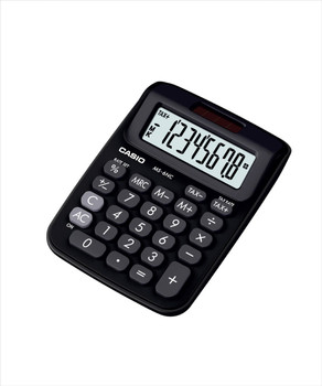 Casio MS-6NC-BK Desktop Calculator (Black & White)