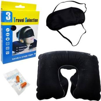 3 IN 1 TRIP TRAVEL KIT Neck Pillow & Eye Shade (Multicolor) Neck Pillow & Eye Shade