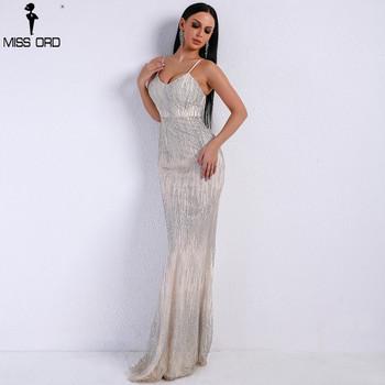 Missord 2020 Women Sexy V Neck Off Shoulder Backless Glitter Dresses Female Elegant Party Maxi Dress FT9226
