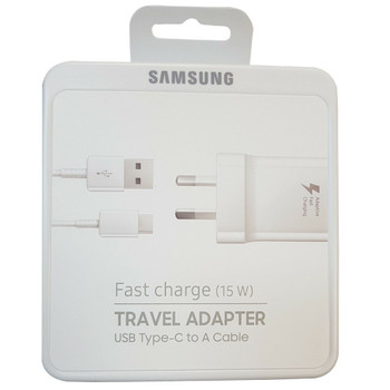 Genuine Original Samsung Fast Charging Travel Adapter (includes Type-C to A cable)