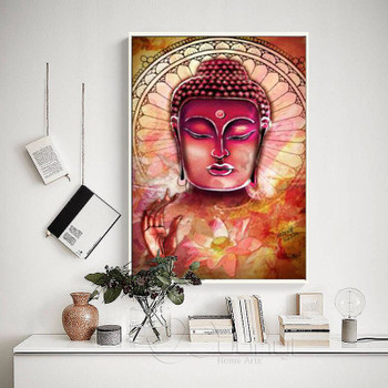 3 Pcs Large Buddha Canvas Wall Art Painting Buddha Picture Canvas Painting Home Decor Abstract Poster For Living Room Unframed
