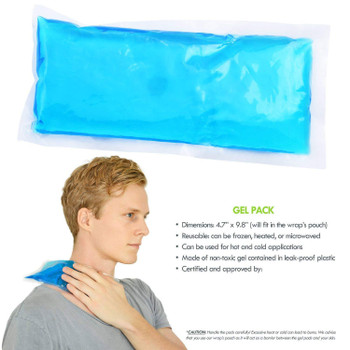Cooling Pack for Cold Therapy, Cooling Gel Pad for Back Shoulder, Neck, Waist Pain Relief