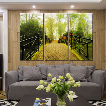 New 3 Pieces/sets Canvas Art Canvas Paintings 3 Panel HD Waterfall Tree Print Decorations For Home Wall Art Prints Canvas