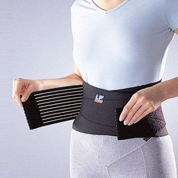 WOMUL LP 919 Back Support with Stays Elastic Braces pad Protect for Muscle Strain Pain