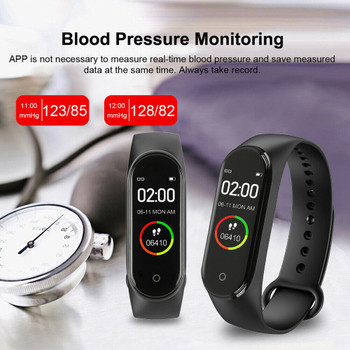 New Label Fashion Sports Smart M4 New Watch Men And Women Heart Rate Blood Pressure Monitor Multifunctional Health Bracelet