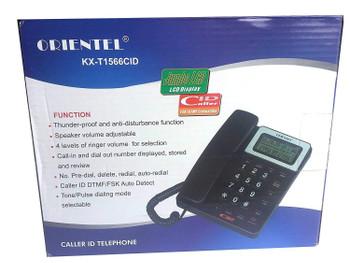 Oriental KX-T1566CID Corded Landline Phone  (Black)
