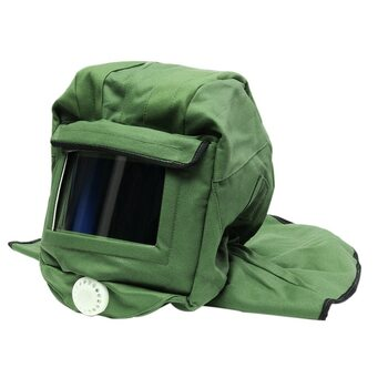 ABKT-Canvas Sand Blasting Hood Cap Shawl Cap Sandblaster Mask Anti-Dust Hood Protective Gear Mask