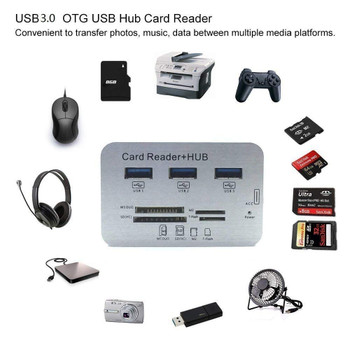 ReTrack 7 in 1 USB 3.0 Combo Card Reader Hub, Upto 10 Gbps Ultra Fast Speed, for Laptop PC Tablet, Supports